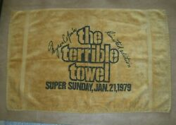 Pittsburgh Steelers Terrible Towel Super Sunday 1979 Limited Edition St Marys