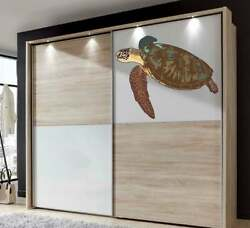 Sea Turtle Wall Decals Sticker Swimming Turtles Wall Decal Nautical Vinyl
