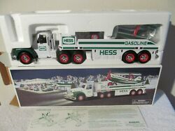 2002 Hess Toy Truck With Head And Tail Lights And Motorized Airplane Nib