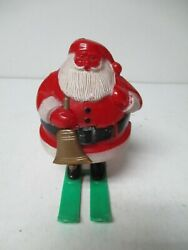 Vintage 1950's Rosbro Santa Holding Bell Christmas Candy Container