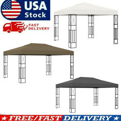 Gazebo 9.8and039x13.1and039 Fabric Patio Sunshade Garden Outdoor Tent Shelter Awning Party
