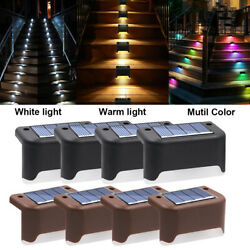 Outdoor Solar Led Bright Deck Lights Path Garden Pathway Patio Stairs Fence Lamp