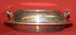 Vintage Sheffield Silver Silverplated Lidded Serving Bowl Tray