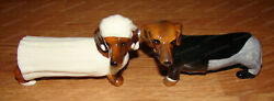 Bride And Groom Salt And Pepper Shakers Attractives, 12285 Dachshund, Magnetic