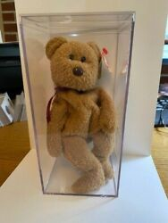 Beanie Baby - Curly The Bear - Mint, Rare, Brown Nose With Many Errors
