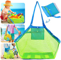 Nifhoo Mesh Beach Bag Quality Foldable Extra Large Beach Bags And Totes Toys $11.99