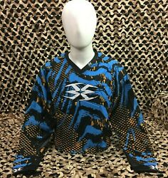 New Large Empire Contact Tt Padded Paintball Jersey - Skinned Dolphin Orange