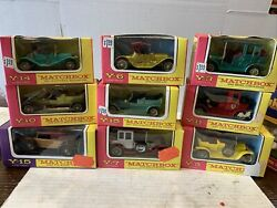 Lot Of 9 Still New In Boxes Matchbox Models Of Yesteryear Lesney Y- 3 5 6 10 11