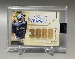 Limited To 15 Pieces Around The World Ichiro Tops Autograph Card 3089hit Topps