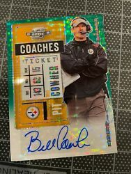 2020 Optic Bill Cowher Pittsburgh Steelers Green Pulsar Auto Signed Card 24/27