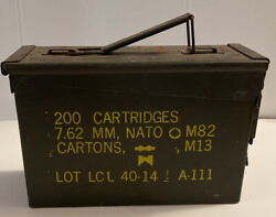 Ammo Can 200 Ctgs 7.62 Mm Nato M82 Cartons M-13 Lot Lcl 40-14 A111
