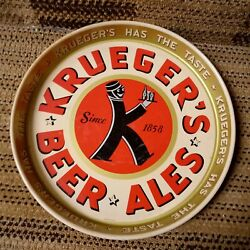 1940's Krueger Beer-ale Tray Colors Are Still Bright Great Condition