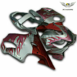 Ms Injection Grey Red Plastic Fairing Fit For Honda 2001-2003 Cbr600f4i K013