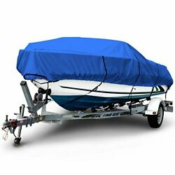 Budge B-600-x3 600 Denier V-hull Runabout/bass Boat Cover Blue 16and039 - 18and039 Long...