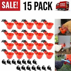 15 Pack Poultry Drinking Machine Fully Automatic Chicken Drinking Cup Water Cups