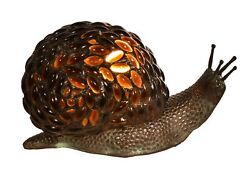 Diva At Home 5.75 Vibrantly Colored Jewel Pattern Snail Shape Accent Lamp