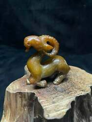 Chinese Natural Old Jade Handmade Exquisite Sheep Statue 40895