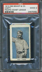 1910 E99 Bishop And Co. Tom Hasty Psa 2 Vernon Tigers Pcl