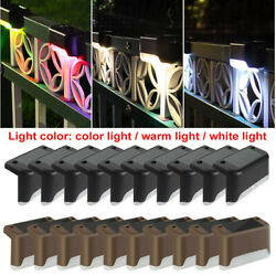 Solar Led Bright Deck Lights Path Garden Pathway Patio Stairs Fence Lamp Outdoor