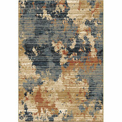 Orian Adagio High Plains Blue 8and03910x13and039 Area Rugs 8233