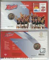 2019 Aflpremiers Sydney Roosters 1.00 Coin Pnc. Cost 24.95. L/edition To 2019