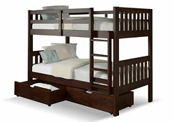 Chelsea Hometwin Mission Bunk Bed With Underbed Drawers 36tt900-dc-ubd