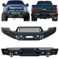 Front And Rear Bumper Fits 2011-2016 Ford F250 F350 F450 F550excluding Raptor
