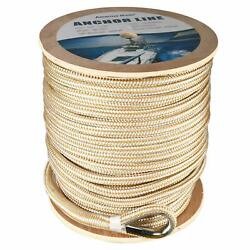 Double Braid Nylon Boat Dock Line Anchor Line With Stainless Thimble 5/8 X600'