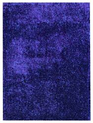 Hand Tufted Shag Polyester 10and039x13and039 Area Rug Solid Blue Bbh Homes Bbk00111