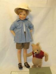 R John Wright Pocket Christopher Robin And Pooh Rare With Box Fedex Ip
