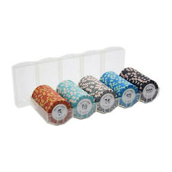 100 Pcs Bar Poker Game Chips Set Texas Hold'em Casino Chips Tokens For Party