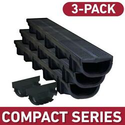 Compact Series 5.4 In. W X 3.2 In. D X 39.4 In. L Trench And Channel Drain Kit