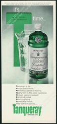1963 Tanqueray Gin Green Bottle Pitcher Photo Classic Vintage Print Ad