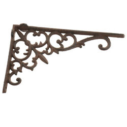 Antique Cast Iron Heavy Duty Metal Shelf Brackets Wall Mounted Support Display