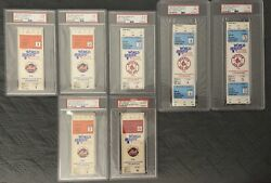 1986 World Series Tickets Complete Set Mets/red Sox All Psa