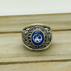 Vintage 1976 10kt White Gold Lynchburg College Class Ring 26.40 Grams Guaranteed