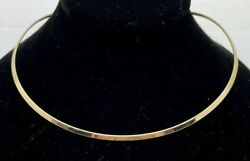 James Avery 14k Gold Collet Neck Collar Necklace