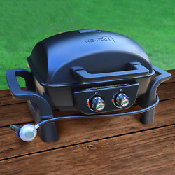 Cast Aluminum Table Top Gas Bbq Heavy Duty Lid And Firebox Reliable Push Ignition