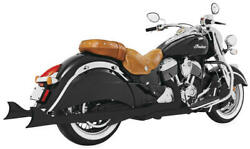 Freedom Performance Shark Tail True Dual Full Exhaust System Black Indian Chief
