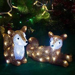 Led 3d Squirrel Decoration Lighting 29cm Tall Christmas Ornaments Outdoor Lights