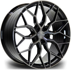 Alloy Wheels 22 Riviera Rf108 Black Polished Face For Volvo Xc90 [mk2] 14-20