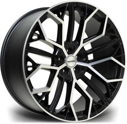 Alloy Wheels 22 Riviera Rv198 Black Polished Face For Audi S8 [d5] 19-20