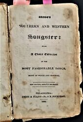 1836 Antique Parlor Songster Star Spangled Banner 318pg American Western Grigg's