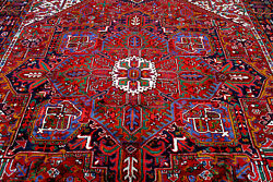 10x13 1940's One In Million Mint Antique Hand Knotted Herizz Geometric Wool Rug