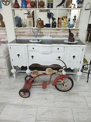 Antique Vintage Hamilton Steel Products Tricycle 2 Seater Cool Rare
