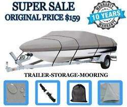 Durable Boat Cover Fits Bayliner 195 Runabout Bowrider 2004 Heavy-duty