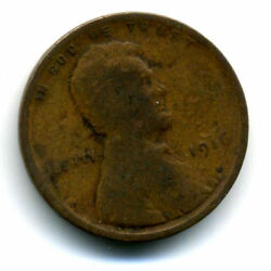 1916 P Wheat Penny Key Date Us Circulated One Lincoln Rare 1 Cent U.s Coin 1561