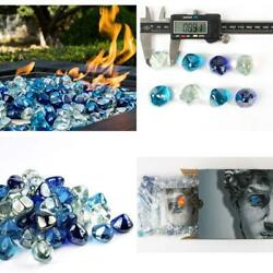 Chilli Cosmos Fire Glass Diamond 1 Inchfire Pit Glass Rocks For Propane Or Gas F