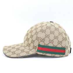 Baseball Cap Gg Canvas Sherry Line Size M Nearly Unused 1308me