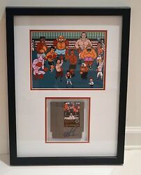 Iron Mike Tyson Signed Nintendo Punch Out Framed Video Game Asi Proof
